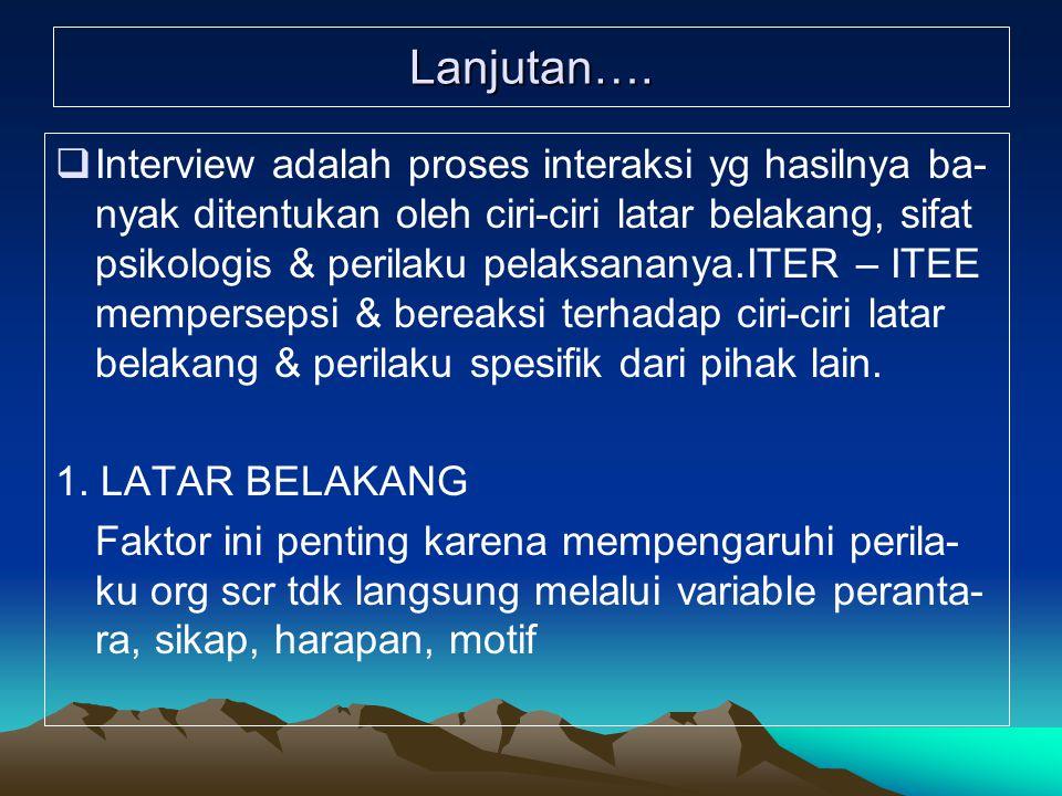 CARA UNTUK MENDORONG RESPON ITEE 1.Pernyataan yg singkat, tegas, bhw ITER me- ngerti dan berminat.