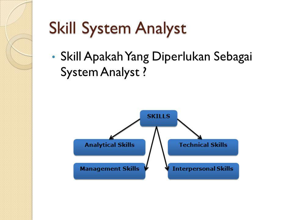 Skill System Analyst Skill Apakah Yang Diperlukan Sebagai System Analyst ?