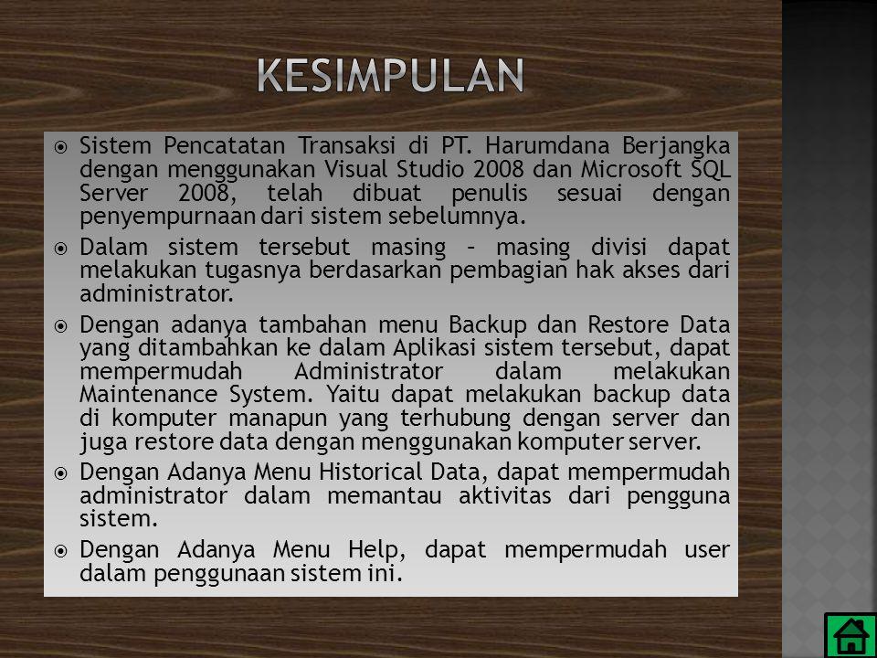 Sistem Pencatatan Transaksi di PT.