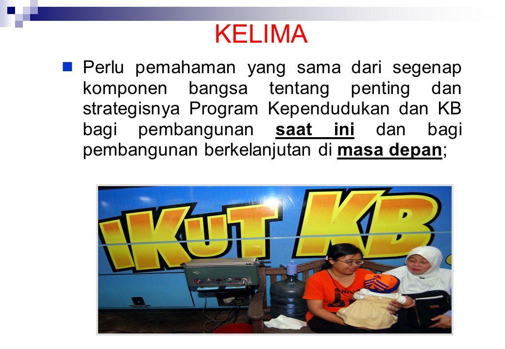 113 KEEMPAT  KB mempunyai peran sangat penting dalam pembangunan SDM yang berkualitas di masa depan;