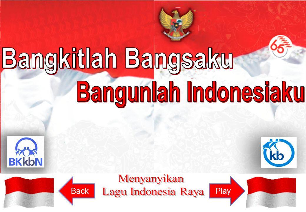 Reff : 3x Indonesia Raya merdeka merdeka, bangsaku rakyatku yang ku cinta Indonesia Raya merdeka merdeka hiduplah indonesia raya PlayBack