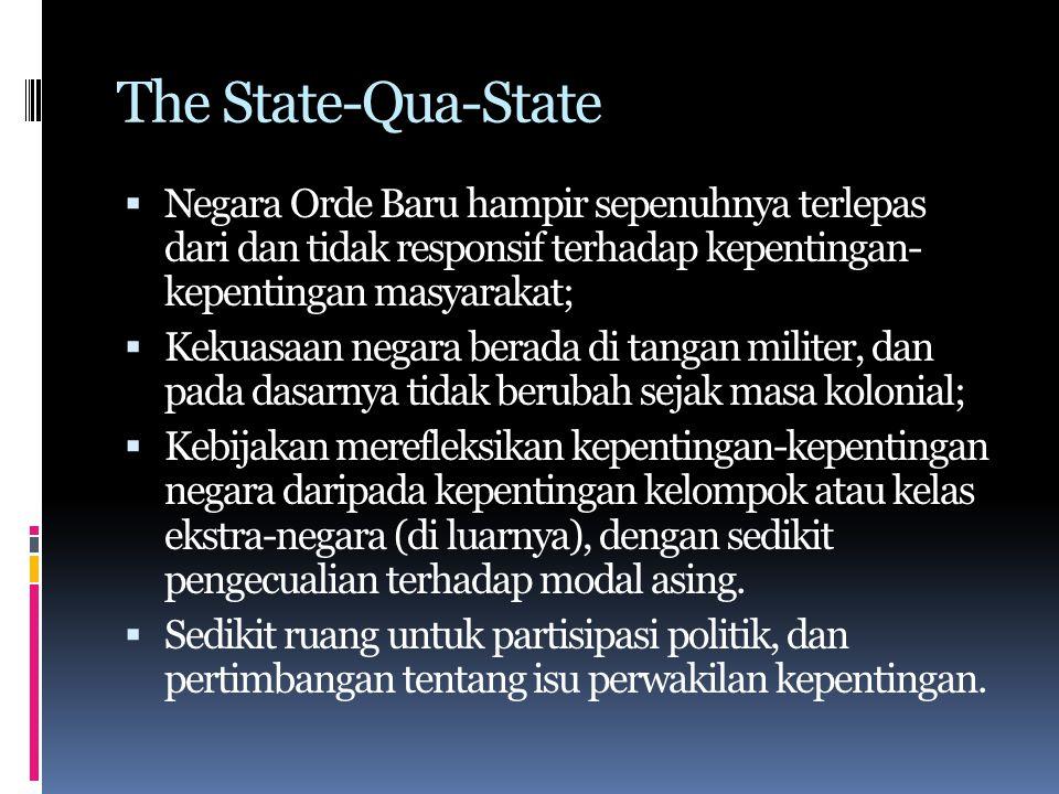 The Bureaucratic Polity & Patrimonialism  Konsep 'bureaucratic polity' berasal dari Fred Riggs yang mengkaji tentang politik Thailand yang diadopsi Karl D.