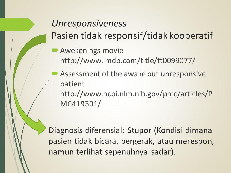 Tanyaan diagnosis utama Kesadaran pasien berkabut.