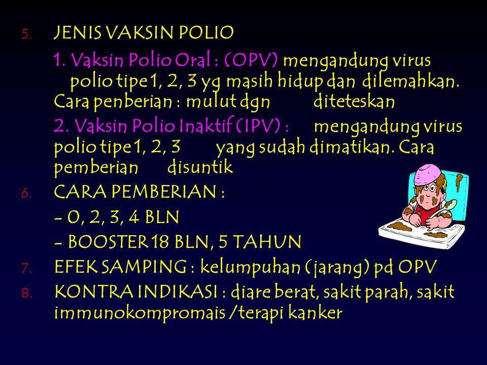 5.JENIS VAKSIN POLIO 1.