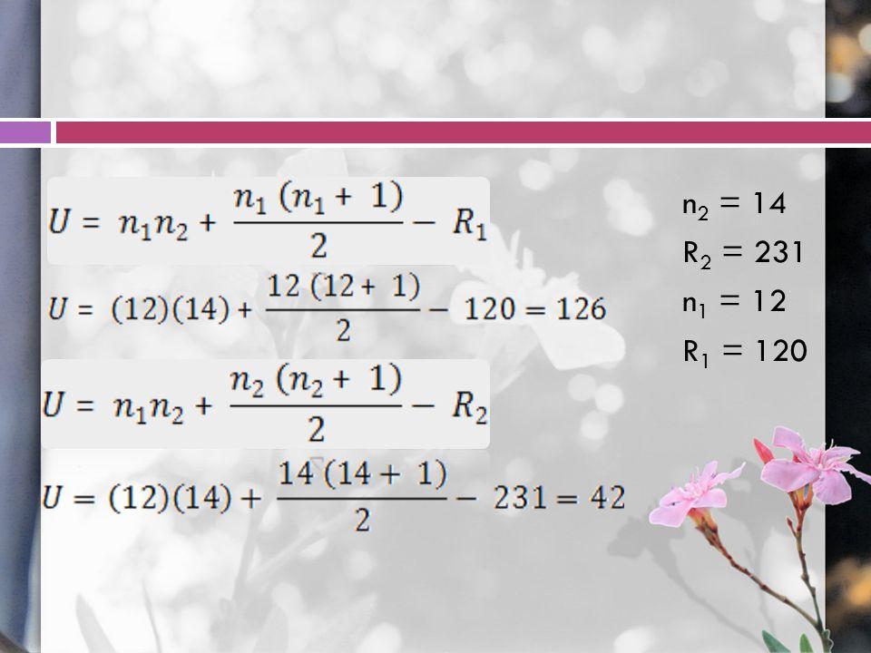 n 2 = 14 R 2 = 231 n 1 = 12 R 1 = 120