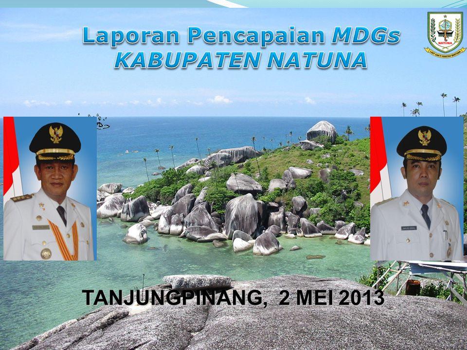 GAMBARAN UMUM DAERAH Kabupaten Natuna terbentuk berdasarkan Undang-undang Nomor 53 Tahun 1999 perubahan ketiga UU No.
