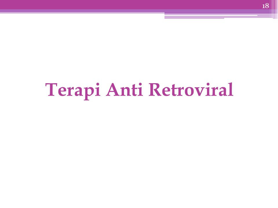 Terapi Anti Retroviral 18