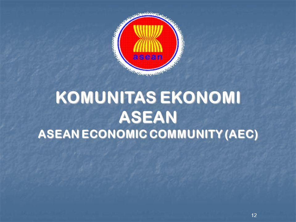 12 KOMUNITAS EKONOMI ASEAN ASEAN ECONOMIC COMMUNITY (AEC)