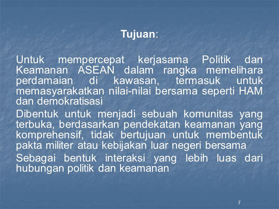 Keketuaan Indonesia untuk ASEAN di tahun 2011 Implementasi Pilar Sosial Budaya ASEAN People-to-people's contact: Dialog antara Pemimpin ASEAN-Civil Society untuk meningkatkan kontribusi ASEAN dalam pencapaian MDGs.