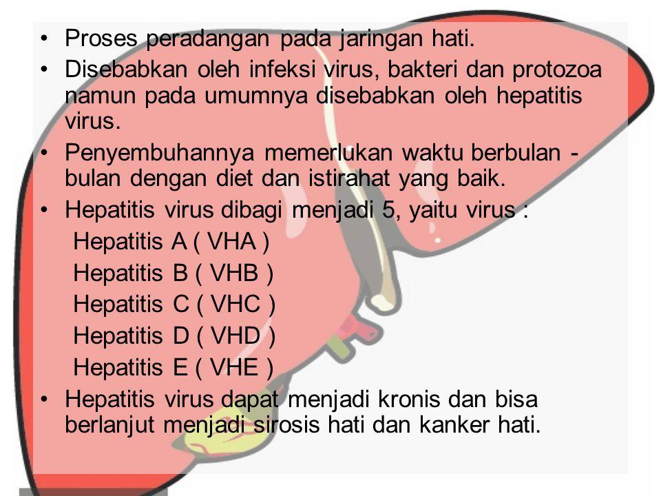 Hepatitis C Penularannya melalui kontak darah {transfusi, jarum suntik (terkontaminasi), serangga yang menggiti penderita lalu mengigit orang lain disekitarnya}.
