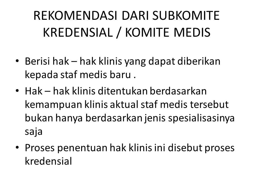 PELAKSANAAN PROSEDUR Bahwa suatu prosedut telah dilaksanakan perlu adanya bukti-bukti tertulis, seperti notulen rapat, form – form yang telah diisi, berkas rekam medik yang terisi.