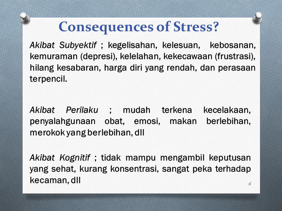 5 Tahap ITahap IITahap III Tingkat normal dari ketahanan Reaksi sinyal Badan menunjukkan perubahan karakteristik dari paparan pertama dan stressor.
