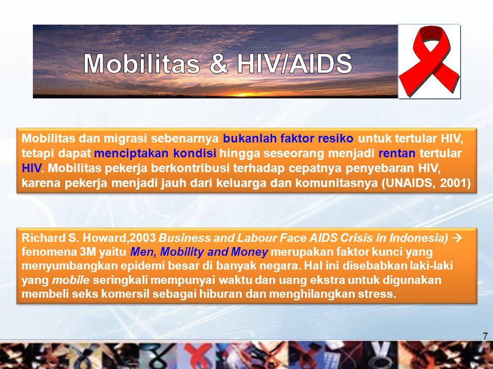 Migran sudah terinfeksi HIV di daerah asal, dan membawa virus ke daerah tujuan migrasi 8 Migran terinfeksi HIV di daerah tujuan migrasi