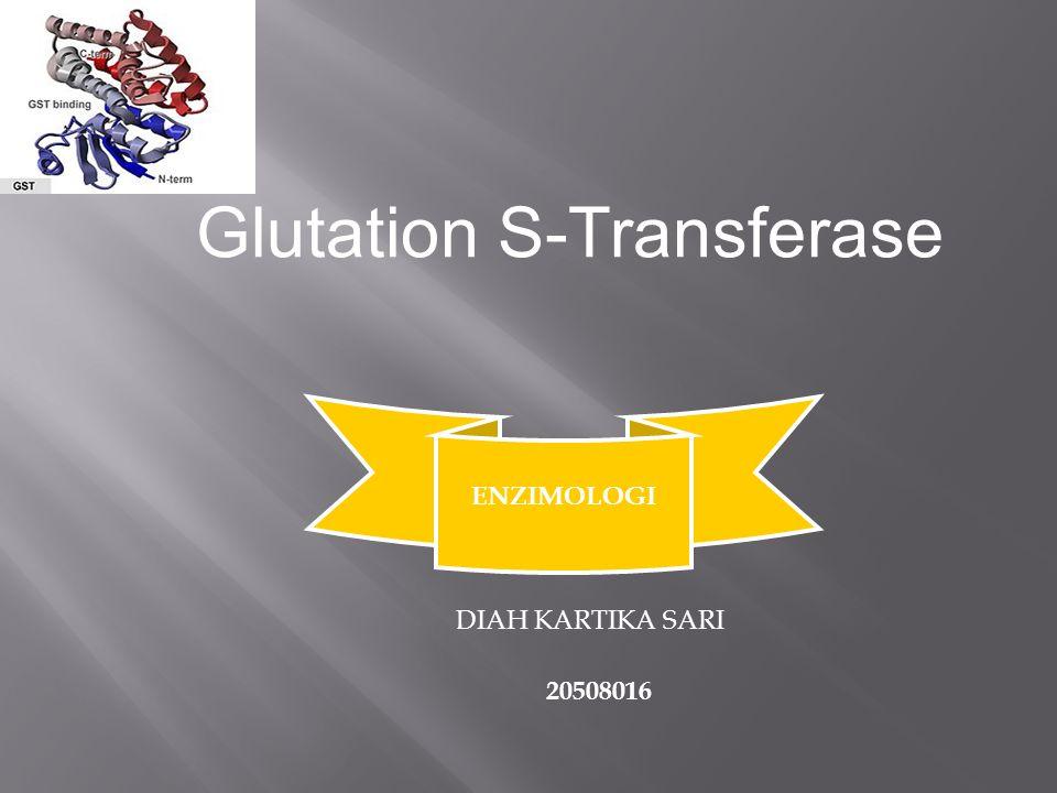 Glutation S-Transferase ENZIMOLOGI DIAH KARTIKA SARI 20508016