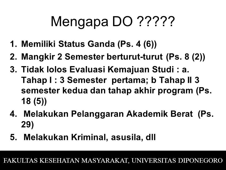 STATUS MAHASISWA TERDAFTAR/ AKTIF  Ps.4 Perak MANGKIR  Ps.