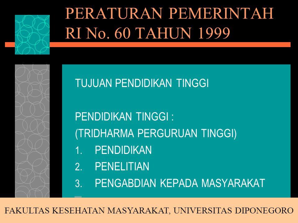 PERaturan Akademik (PERAK) Universitas dan Fakultas FAKULTAS KESEHATAN MASYARAKAT, UNIVERSITAS DIPONEGORO