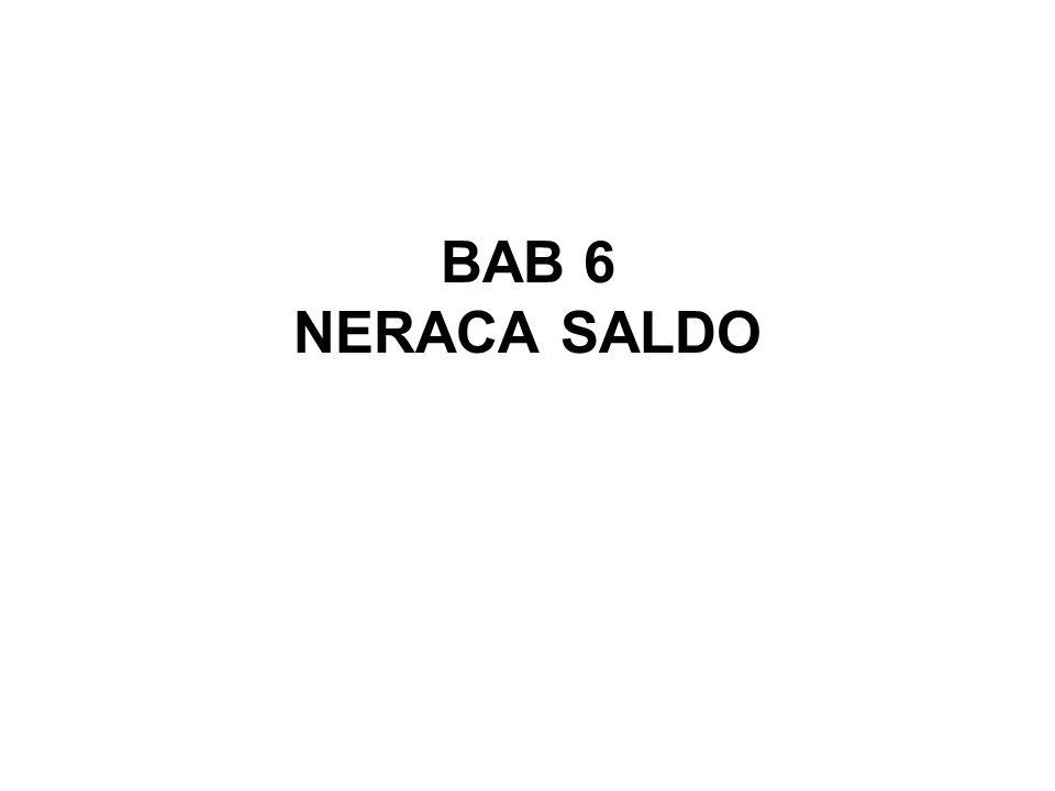 BAB 6 NERACA SALDO