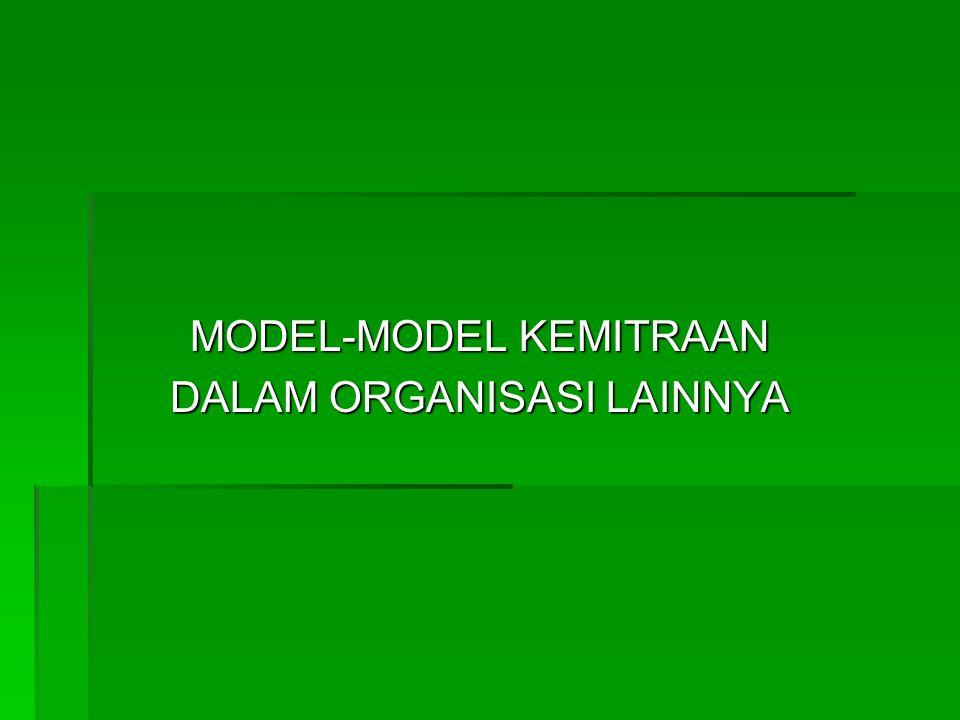 MODEL-MODEL KEMITRAAN DALAM ORGANISASI LAINNYA