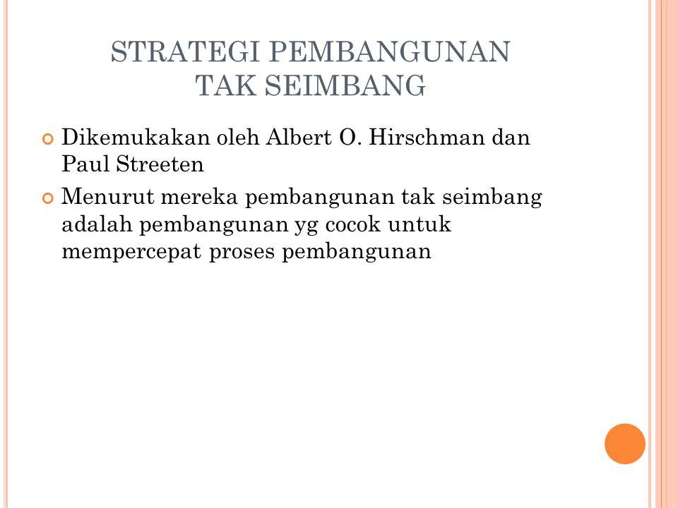 STRATEGI PEMBANGUNAN TAK SEIMBANG Dikemukakan oleh Albert O.