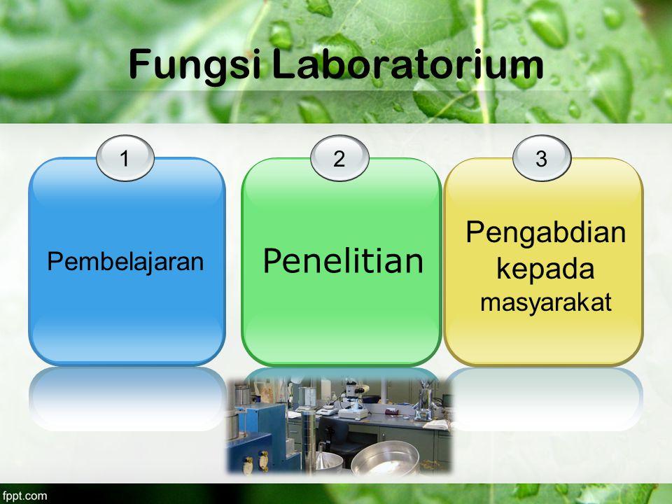 Fungsi Laboratorium 1 Pembelajaran 2 Penelitian 3 Pengabdian kepada masyarakat