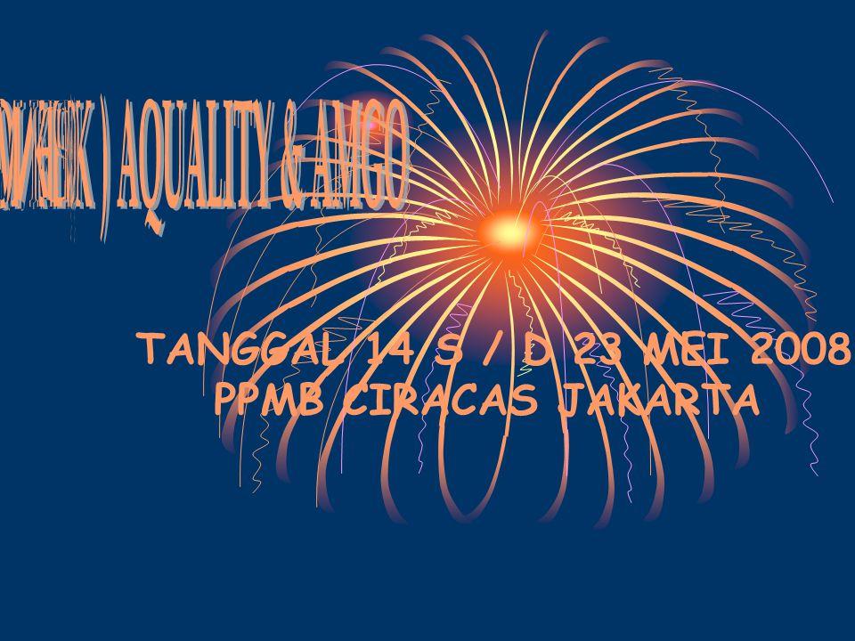 TANGGAL 14 S / D 23 MEI 2008 PPMB CIRACAS JAKARTA