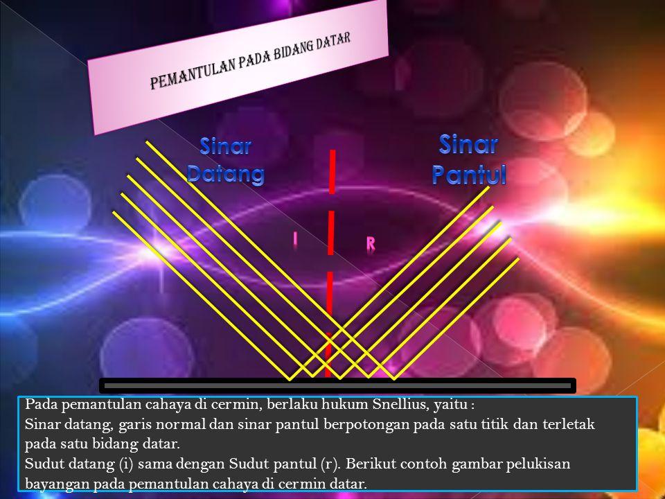 Pada umumnya, setiap permukaan benda dapat memantulkan cahaya yang jatuh pada permukaan tersebut.