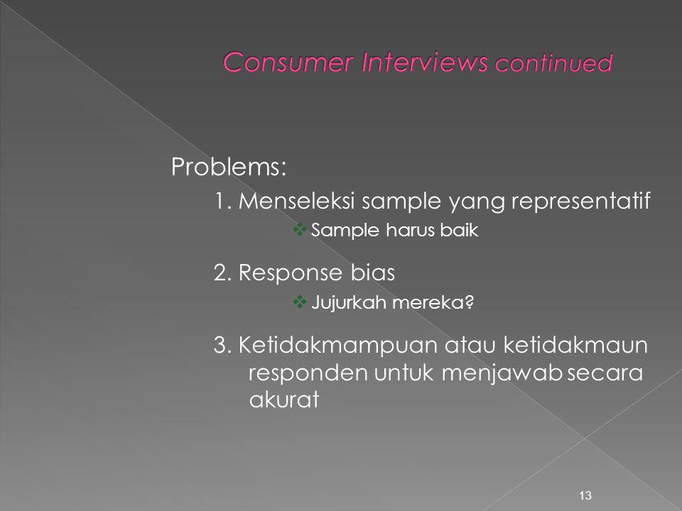  Bertanya ke potensial buyer berapa banyak barang yang ingin mereka beli bila harga berubah  face to face approach  telephone interviews 12