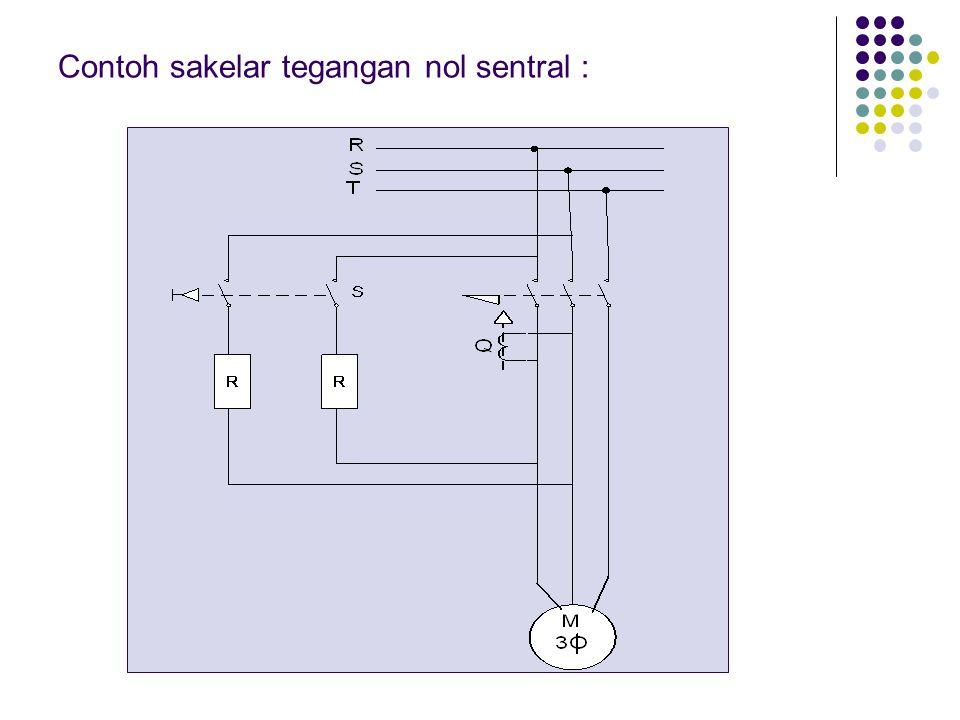 Contoh sakelar tegangan nol sentral :