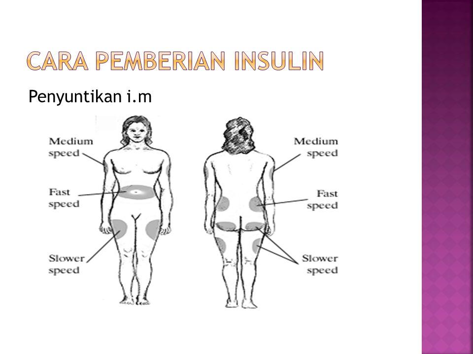 1.Insulin masa kerja singkat (Short- acting/Insulin), disebut juga insulin reguler.
