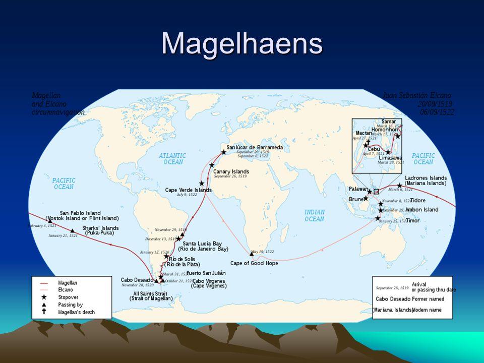 B. Bangsa Spanyol Setelah Columbus gagal mencapai India, ekspedisi dilanjutkan Magelhaens dan tiba di Filipina th 1521, tetapi dia dibunuh maka ia dig