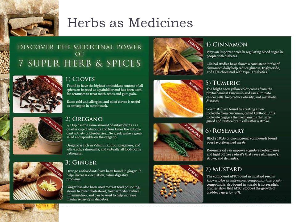 Herbs as Medicines