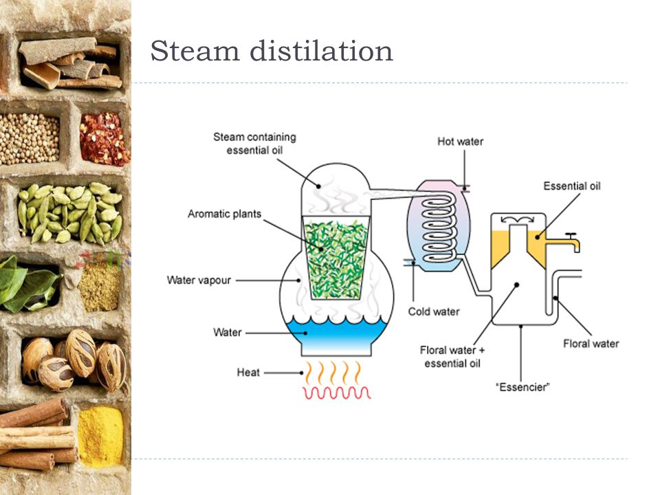 Steam distilation