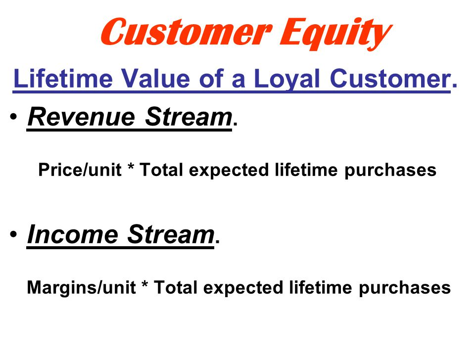 Customer Equity How Much Is A Customer Worth