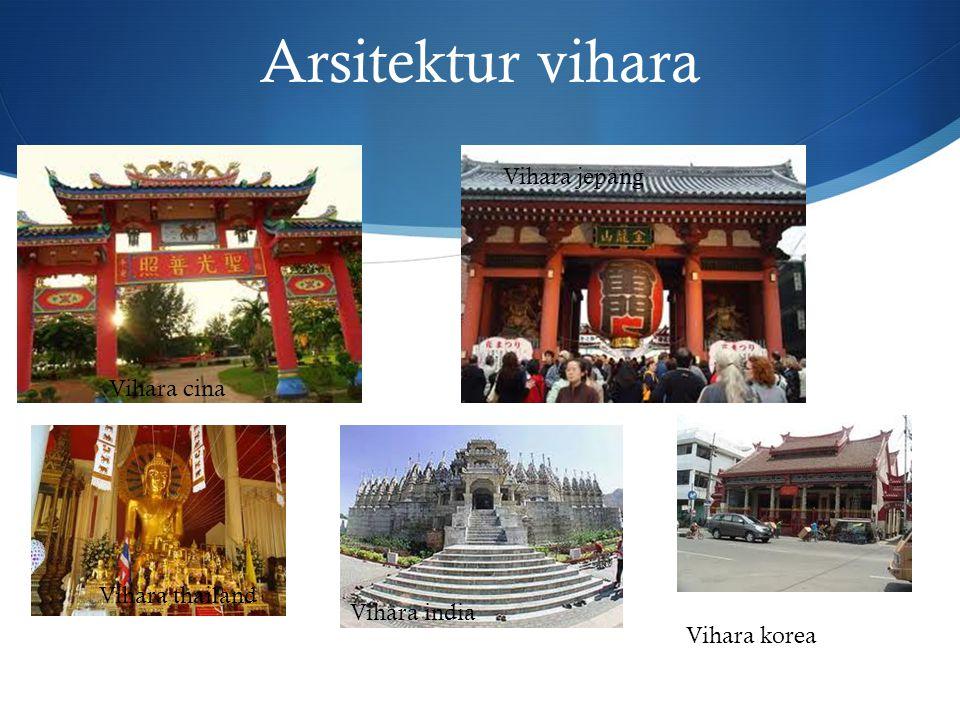 Arsitektur vihara Vihara cina Vihara jepang Vihara thailand Vihara india Vihara korea