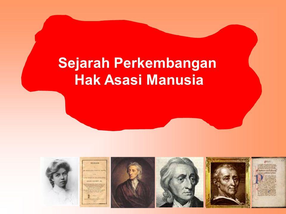 Para ahli sepakat sejarah perjuangan penegakan hak asasi manusia dimulai sejak ada Piagam Madinah.