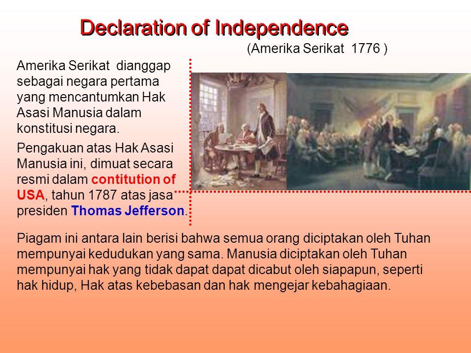Declaration des Droits de L`homme et du citoyen Declaration des Droits de L`homme et du citoyen Suatu naskah yang dicetuskan pada permulaan Revolusi Perancis sebagai perlawanan terhadap rezim lama.