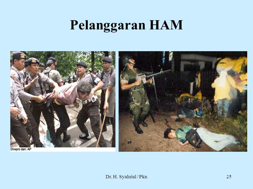 Pelanggaran HAM Dr. H. Syahrial / Pkn25