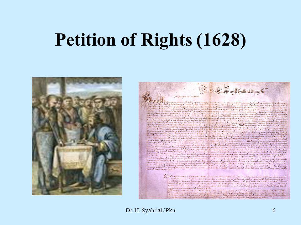 Habeas Corpus Act Dr. H. Syahrial / Pkn7