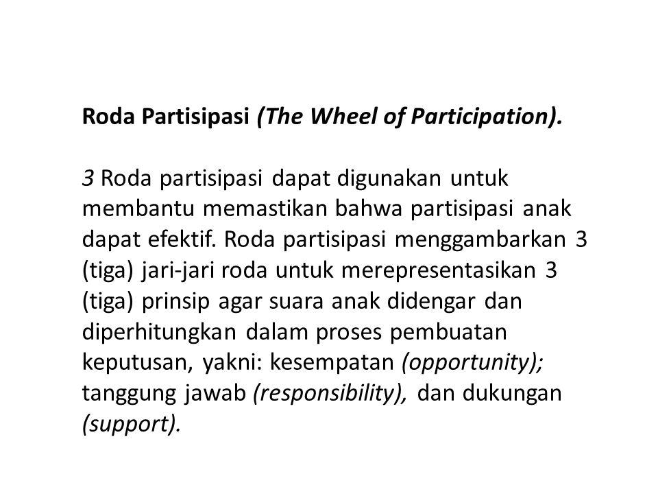 -Model-model partisipasi di atas merupakan cara-cara untuk memfasilitasi bagaimana anak-anak berpartispasi.