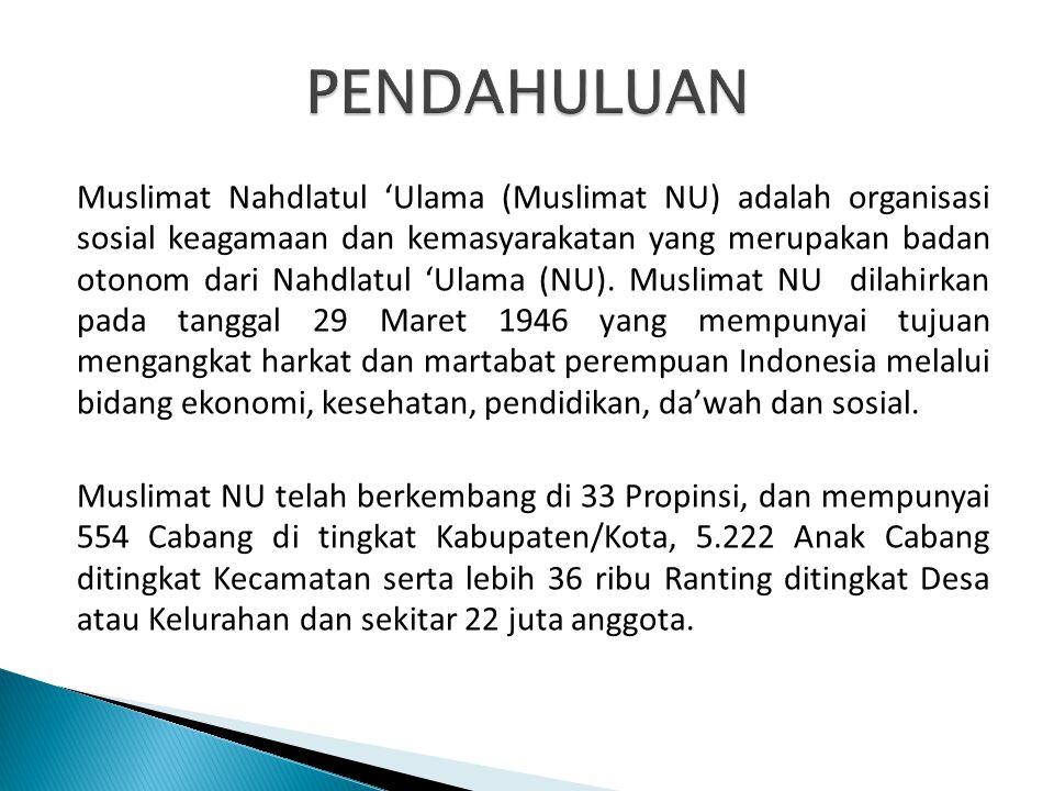 Muslimat Nahdlatul 'Ulama (Muslimat NU) adalah organisasi sosial keagamaan dan kemasyarakatan yang merupakan badan otonom dari Nahdlatul 'Ulama (NU).