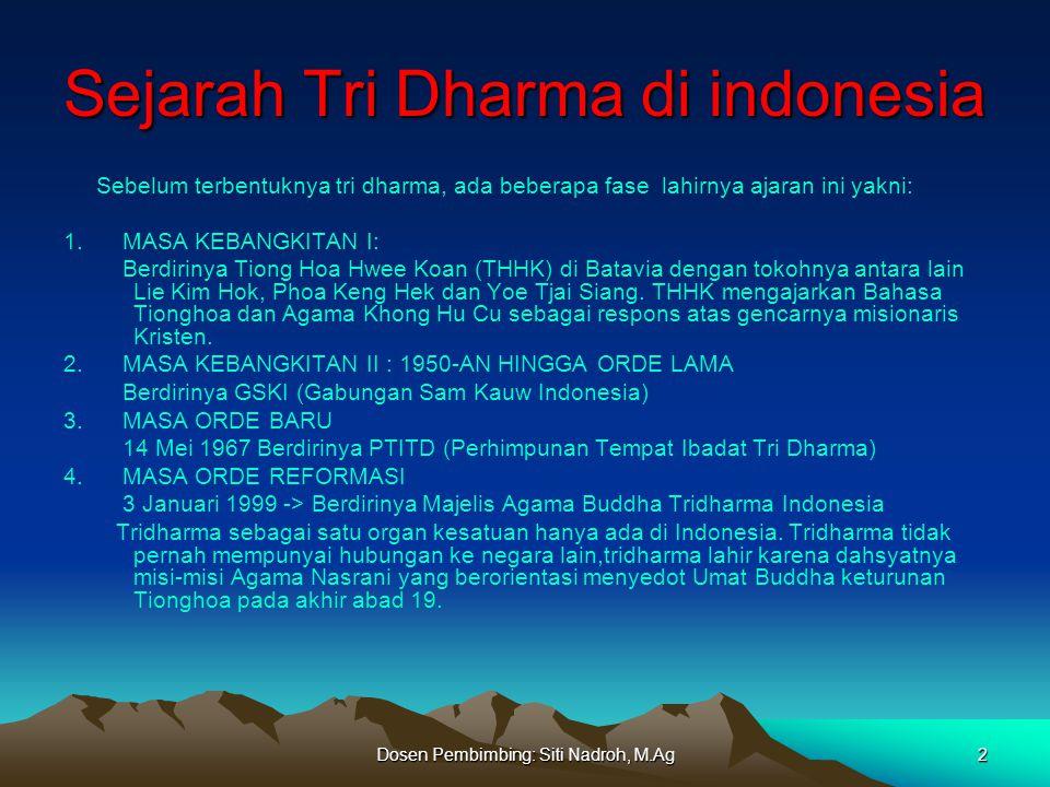 Dosen Pembimbing: Siti Nadroh, M.Ag 3 PANDANGAN DAN JALAN HIDUP UMAT BUDHA TRIDHARMA 1.