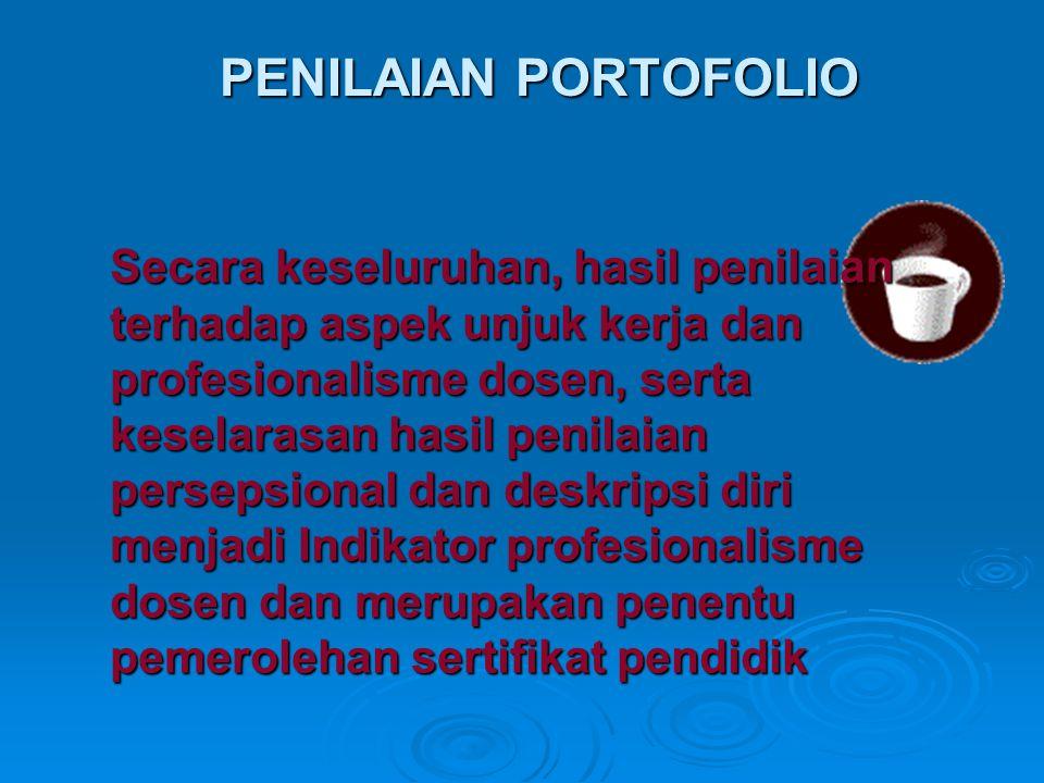 Secara keseluruhan, hasil penilaian terhadap aspek unjuk kerja dan profesionalisme dosen, serta keselarasan hasil penilaian persepsional dan deskripsi