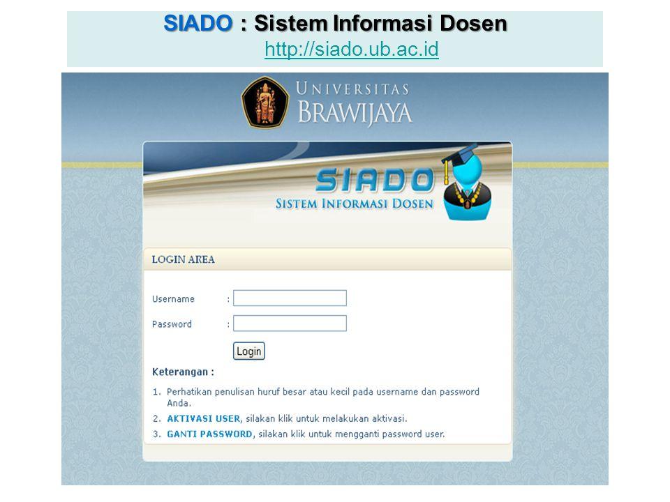 SIADO : Sistem Informasi Dosen http://siado.ub.ac.id
