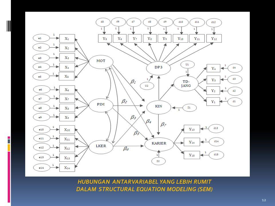 12 HUBUNGAN ANTARVARIABEL YANG LEBIH RUMIT DALAM STRUCTURAL EQUATION MODELING (SEM)