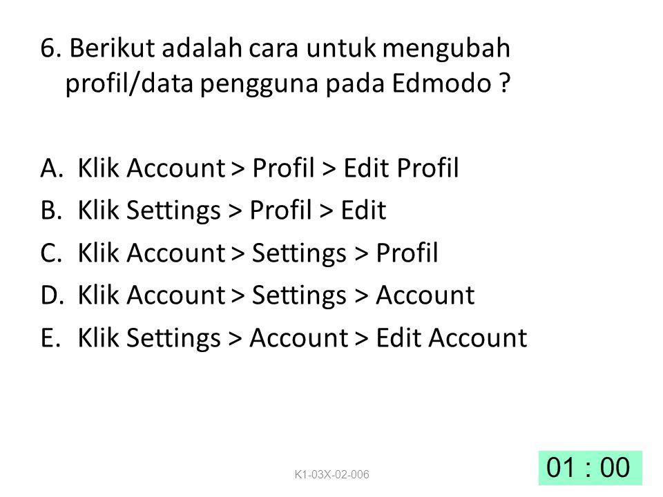 6.Berikut adalah cara untuk mengubah profil/data pengguna pada Edmodo .