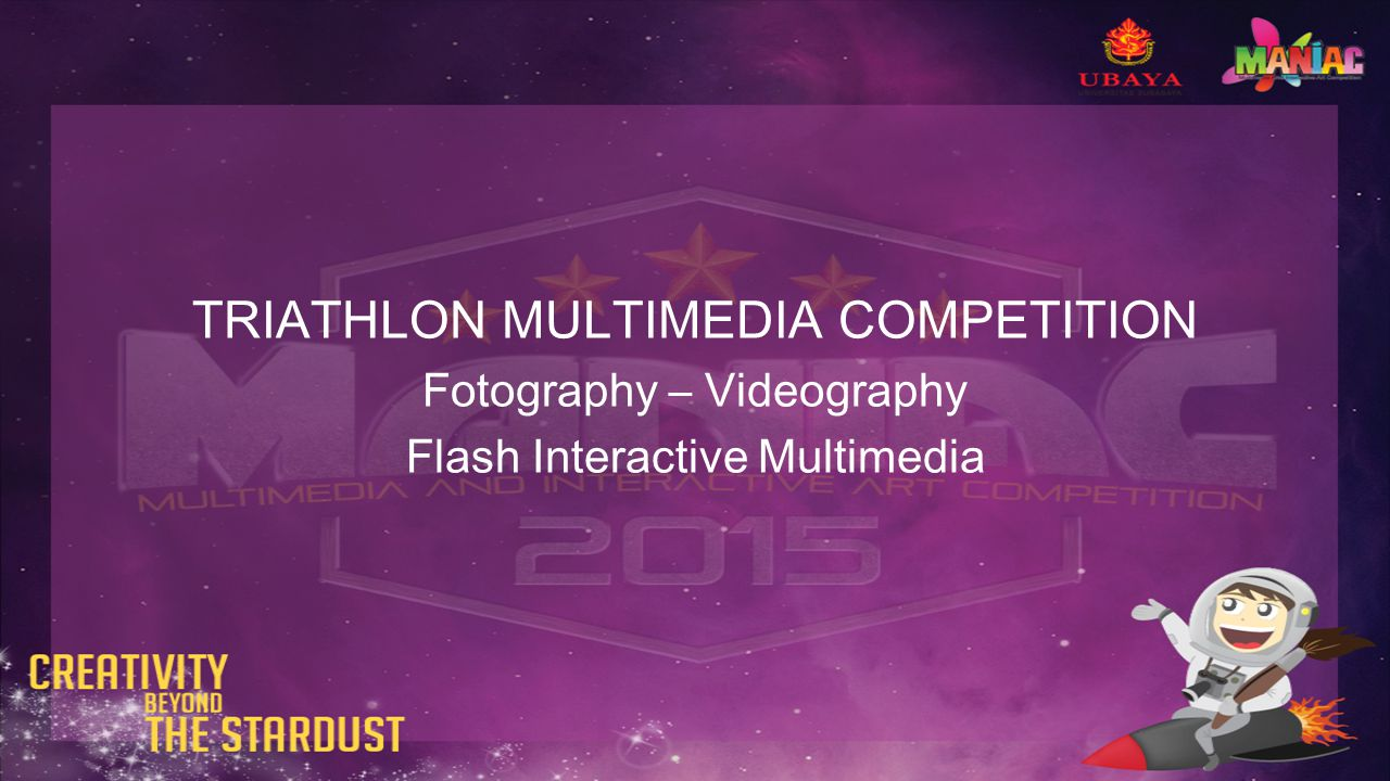 TRIATHLON MULTIMEDIA COMPETITION Fotography – Videography Flash Interactive Multimedia