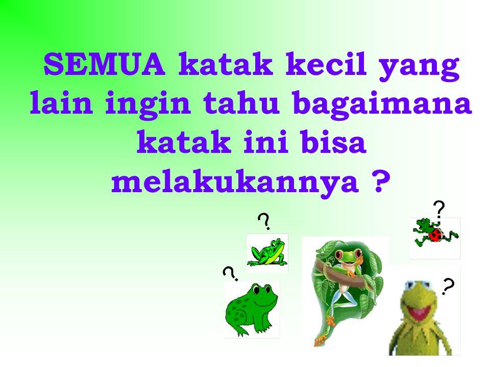 SEMUA katak kecil yang lain ingin tahu bagaimana katak ini bisa melakukannya ? ? ? ? ?