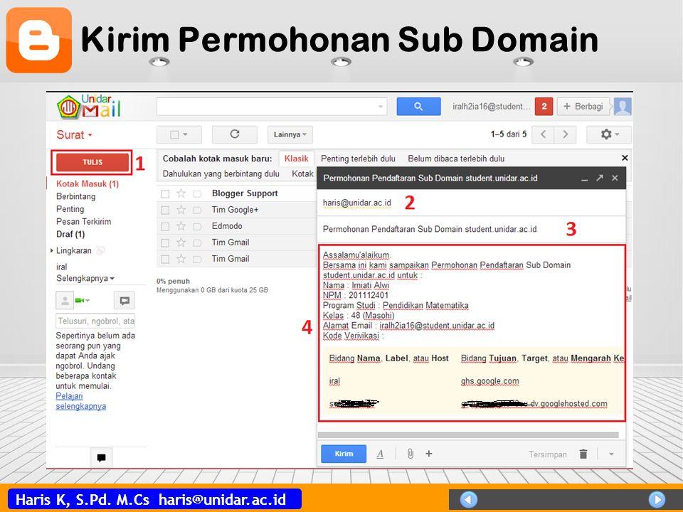 Haris K, S.Pd. M.Cs haris@unidar.ac.id Kirim Permohonan Sub Domain