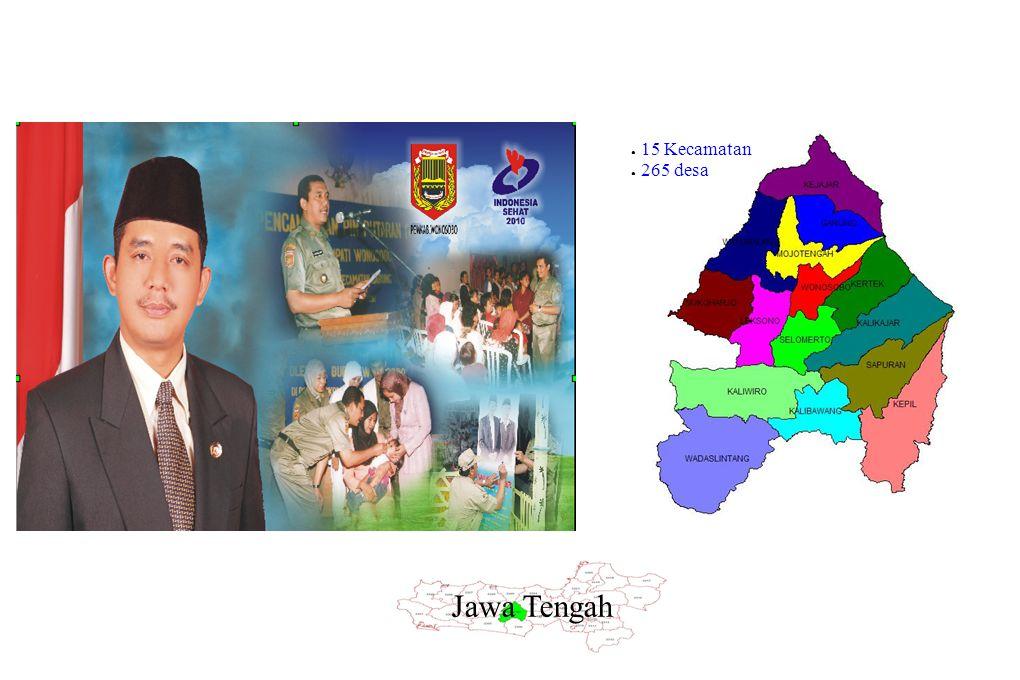Jawa Tengah ● 15 Kecamatan ● 265 desa