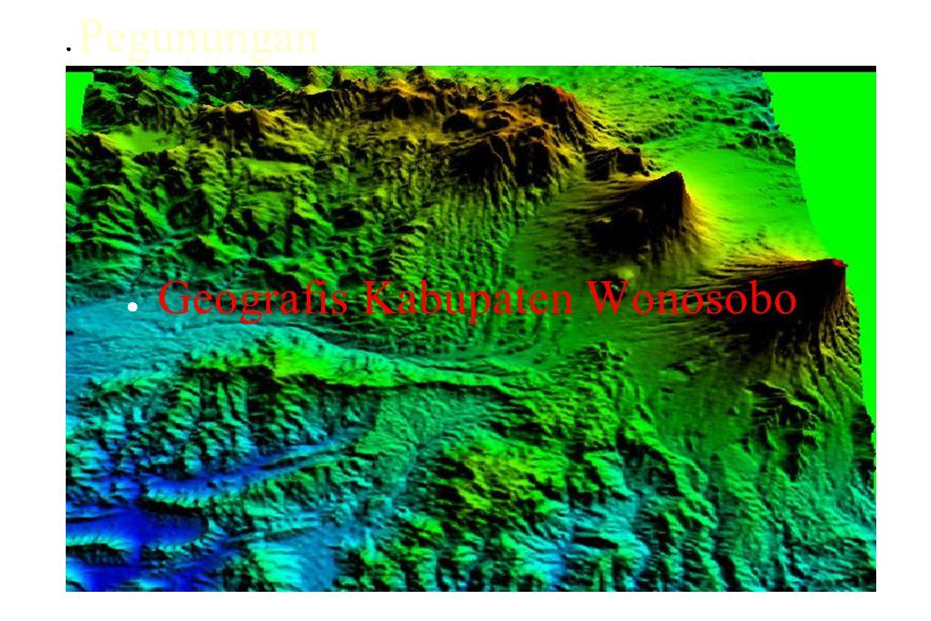 ● Geografis Kabupaten Wonosobo ● Pegunungan
